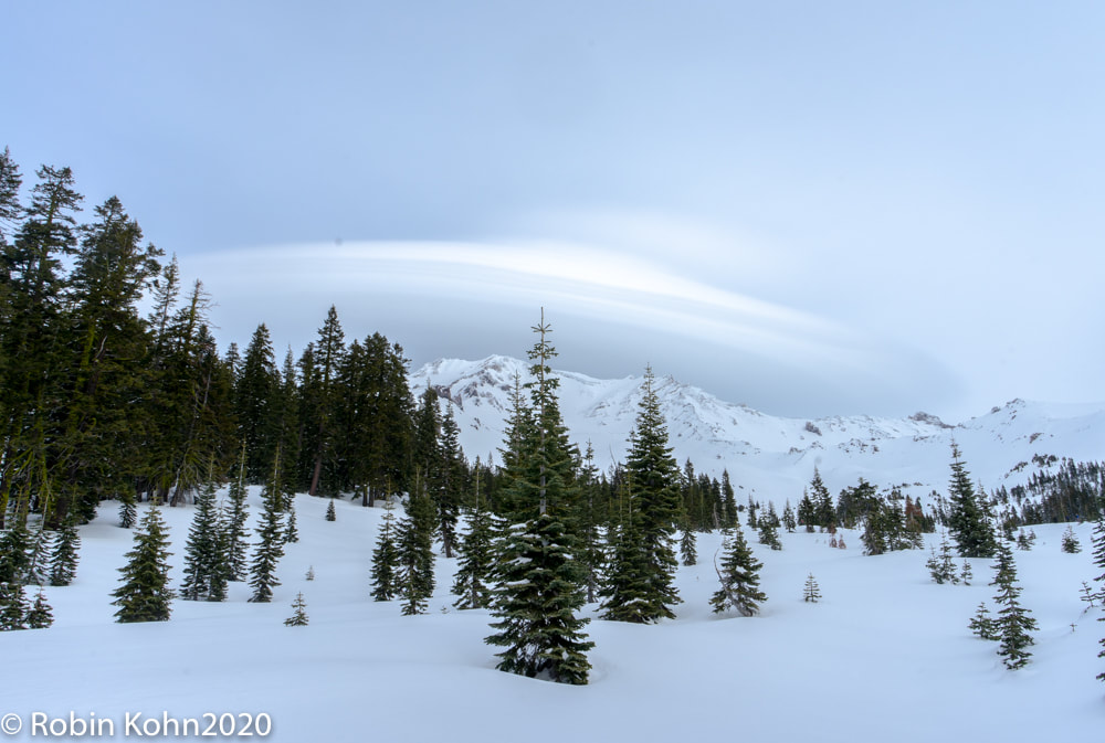 Mt. Shasta, Mount Shasta, Lenticular Cloud, Snow
