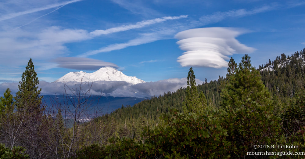 Castle Lake Road, Mt. Shasta, Lenticular Clouds Snow