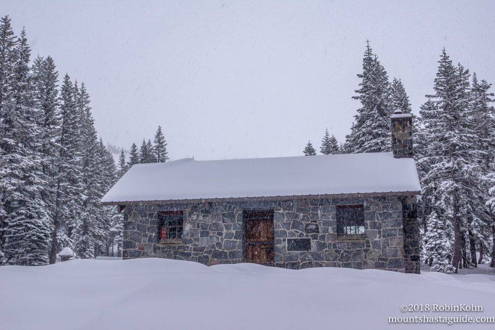 Mt. Shasta, Snow, Sierra Club Cabin, Horse Camp